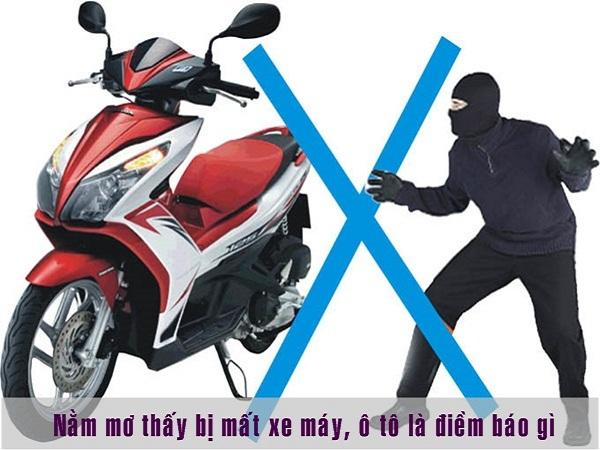 Giải mã giấc mơ mất xe máy - Mơ mất xe máy đánh con gì? 1