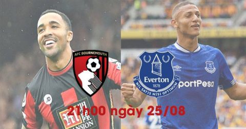 Soi kèo Bournemouth vs Everton 21h00 ngày 25/8