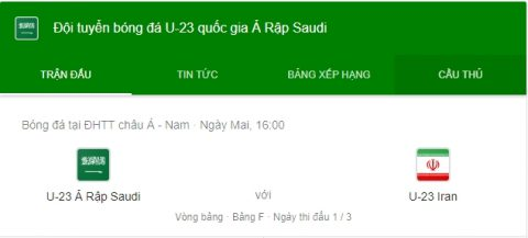 Soi kèo U23 Saudi Arabia vs U23 Iran, 16h00 ngày 15/8