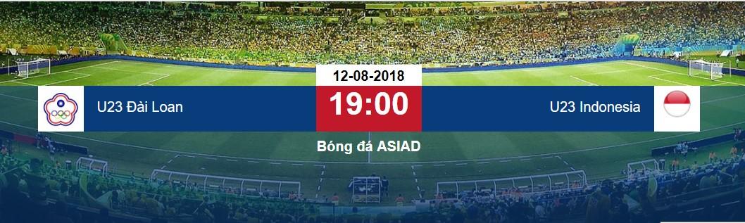 Soi kèo U23 Đài Loan vs U23 Indonesia, 19h00 ngày 12/8