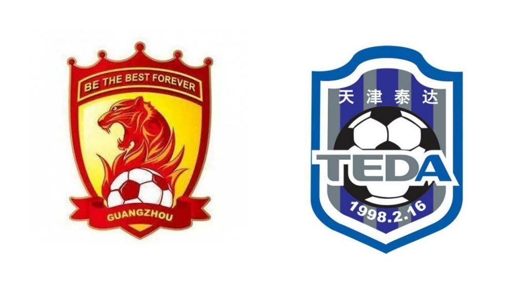 Kết quả hình ảnh cho Tianjin Teda vs Guangzhou Evergrande