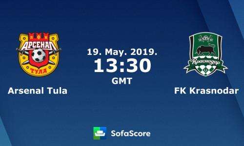 Kèo nhà cái Arsenal Tula vs Krasnodar – Soi kèo bóng đá 20h30 ngày 19/5/2019
