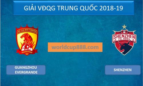 Kèo nhà cái Guangzhou Evergrande vs Shenzhen – Soi kèo bóng đá 16h30 ngày 26/5/2019