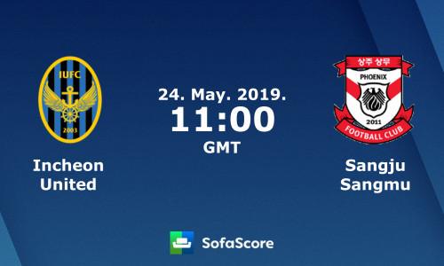 Kèo nhà cái Incheon vs Sangju Sangmu – Soi kèo bóng đá 18h00 ngày 24/5/2019