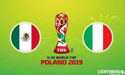 Link Sopcast, Acestream U20 Mexico vs U20 Italia, 23h00 ngày 23/5/2019