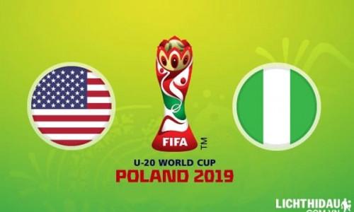 Link Sopcats, Acestream U20 Mỹ vs U20 Nigeria, 01h30 ngày 28/05/2019