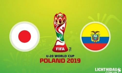Link Sopcast, Acestream U20 Nhật Bản vs U20 Ecuador, 01h30 ngày 24/5/2019