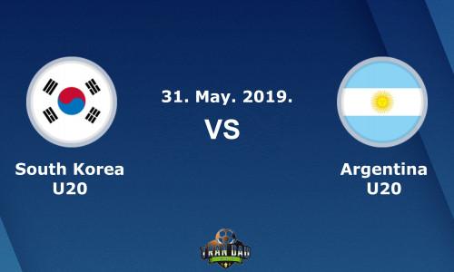 Link Sopcast, Acestream  U20 Hàn Quốc vs U20 Argentina, 01h30 ngày 01/06/2019