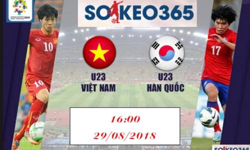 Soi kèo U23 Việt Nam vs U23 Hàn Quốc, 16h00 ngày 29/8
